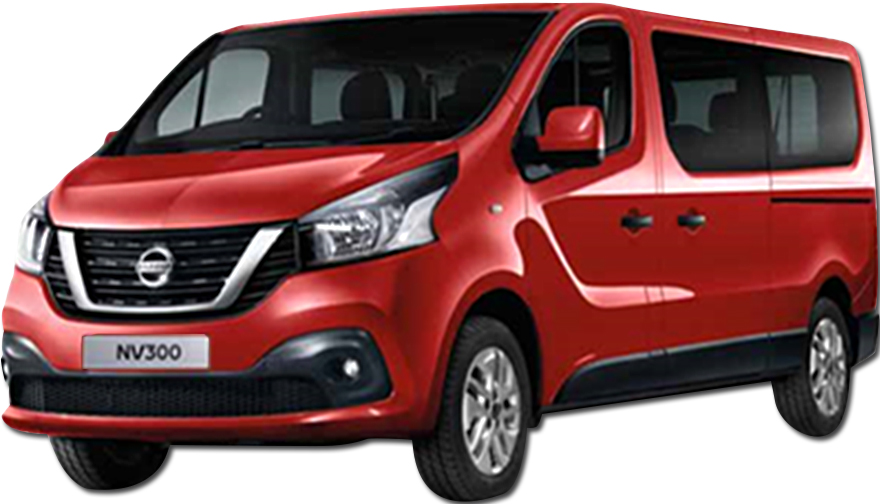 Rent a Nissan NV300 9 seater Diesel or similar car in Crete
